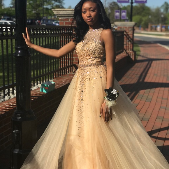 af4b167d41a Dresses | Champagne Gold Prom Dress | Poshmark